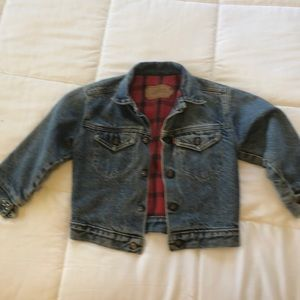 Levis Vintage kids fully Flanned lined jacket